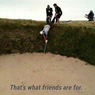 position de golf périlleuse